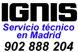 Servicio tecnico Ignis Madrid telefono