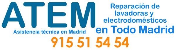 Servicio tecnico de reparacion de lavadoras en Madrid